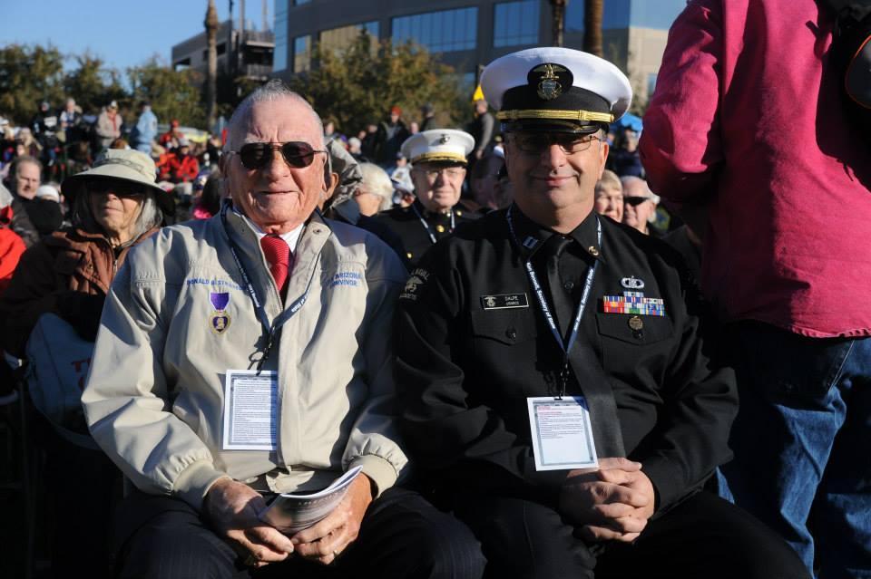 USS Arizona Survivor Donald Stratton (Left).