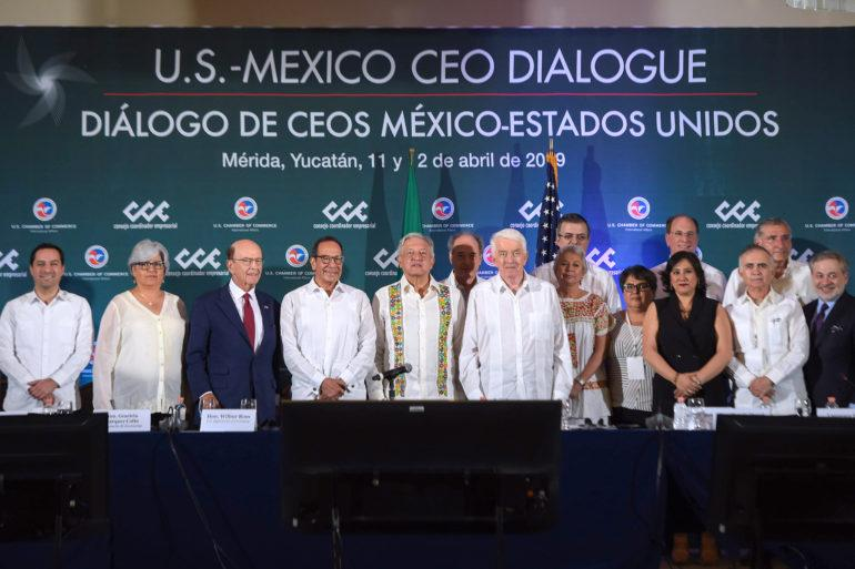 Representatives from the public and private sectors from Mexico and the US