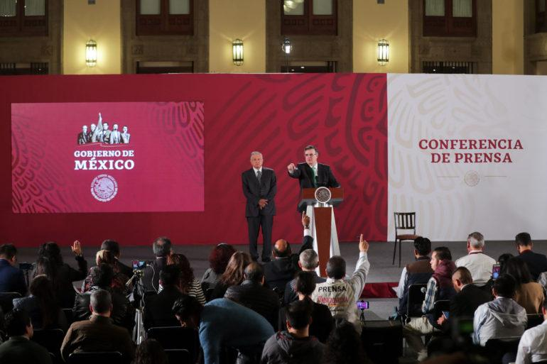 Mexican President Andés Manuel López Obrador with Ebrard