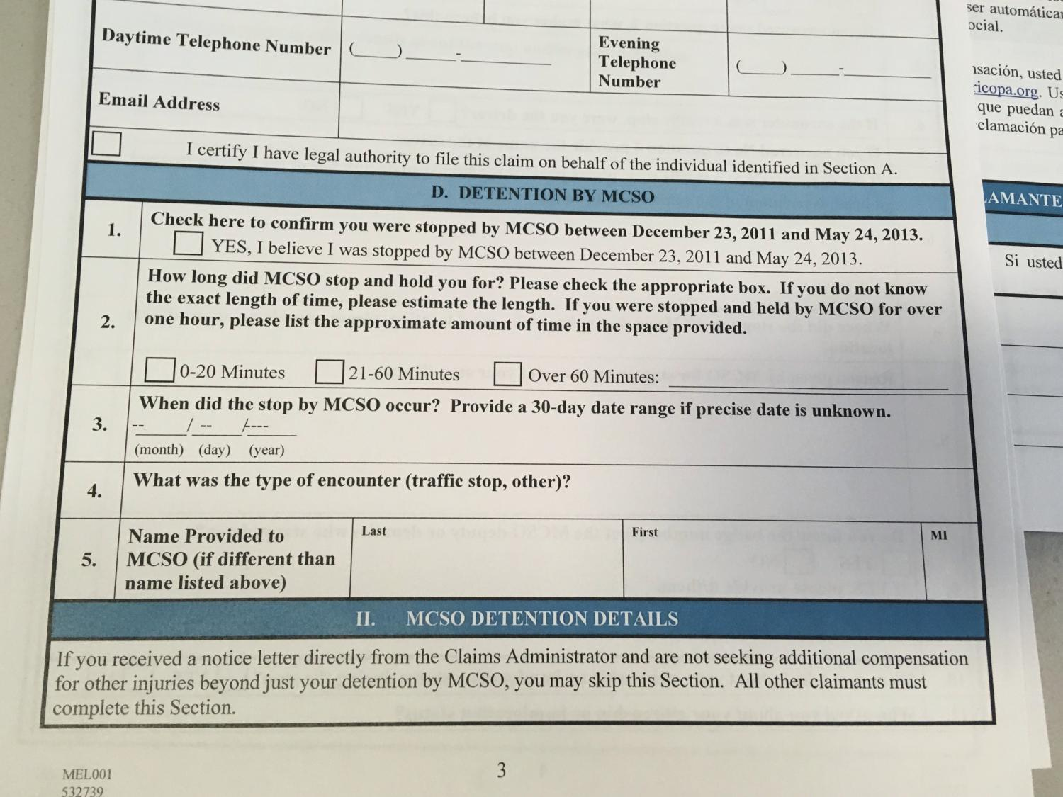 claims form