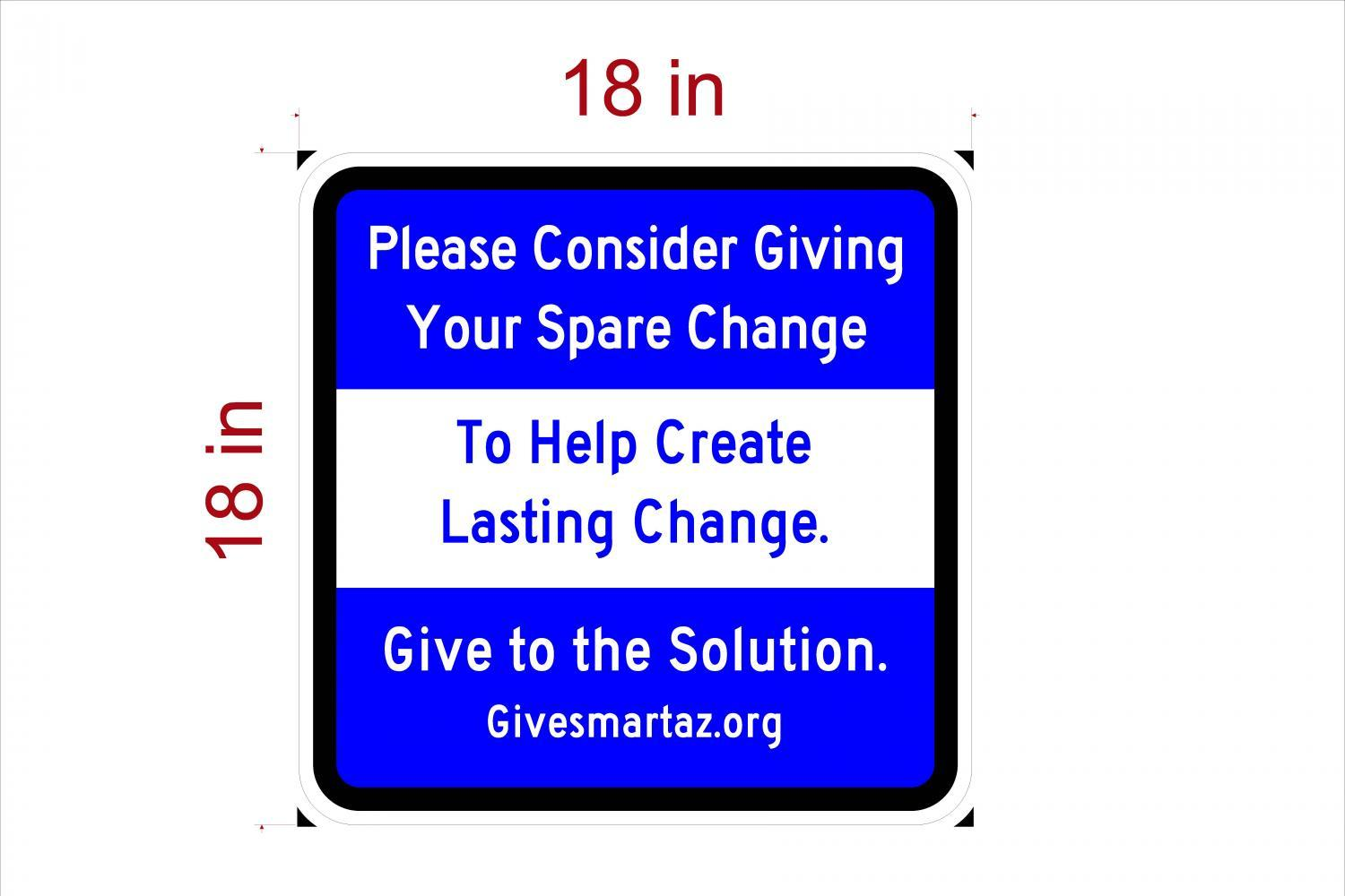 mock up of proposed sign for healthy giving
