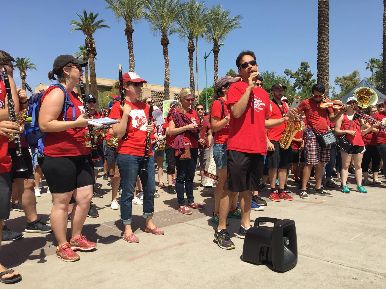 #RedForEd band