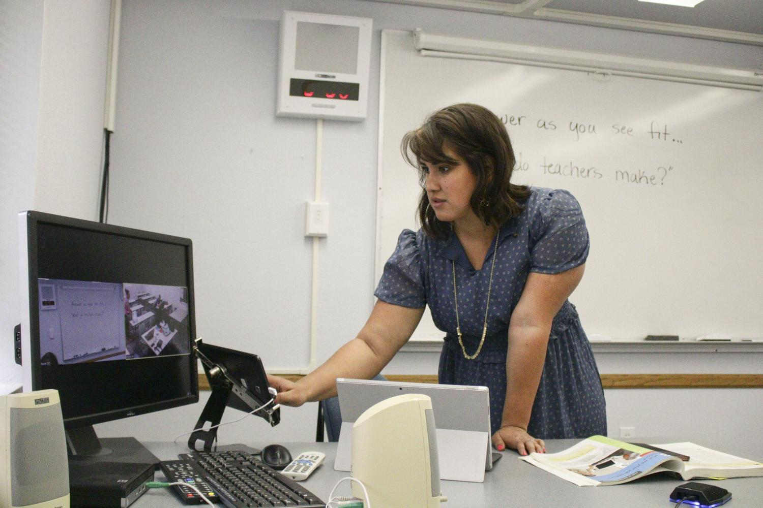Erika Flores dials up students from Payson