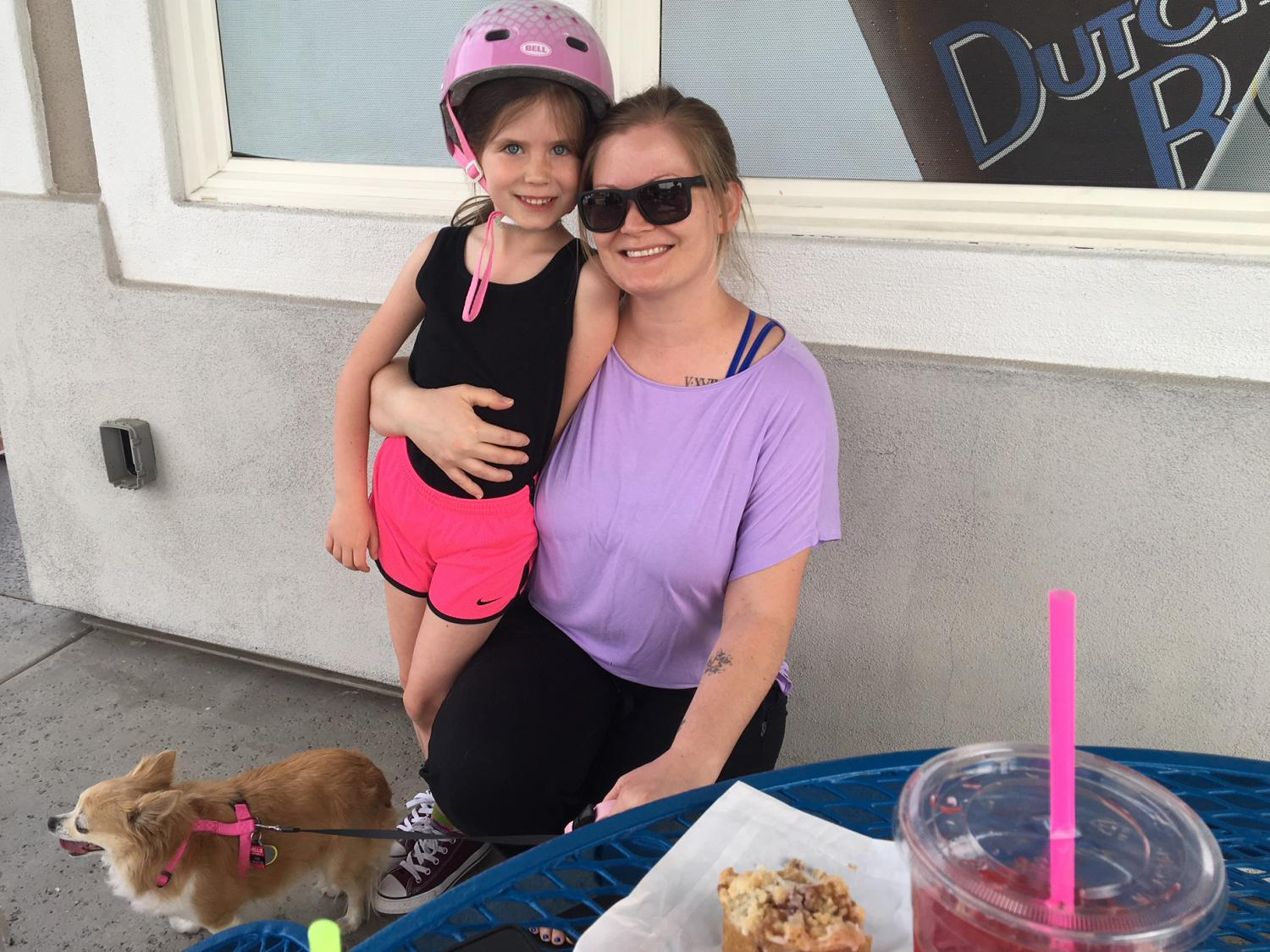 Erin Flanagan and her daughter