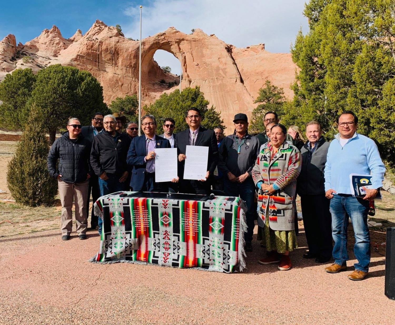 Navajo National Vice President Myron Lizer and President Jonathan Nez
