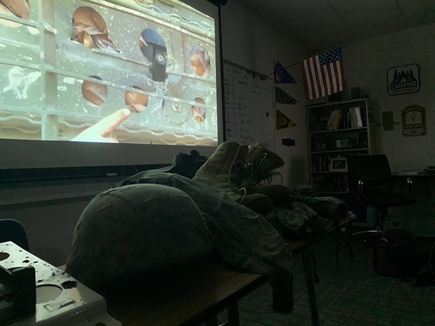 James shares a slideshow of photos depicting his military service