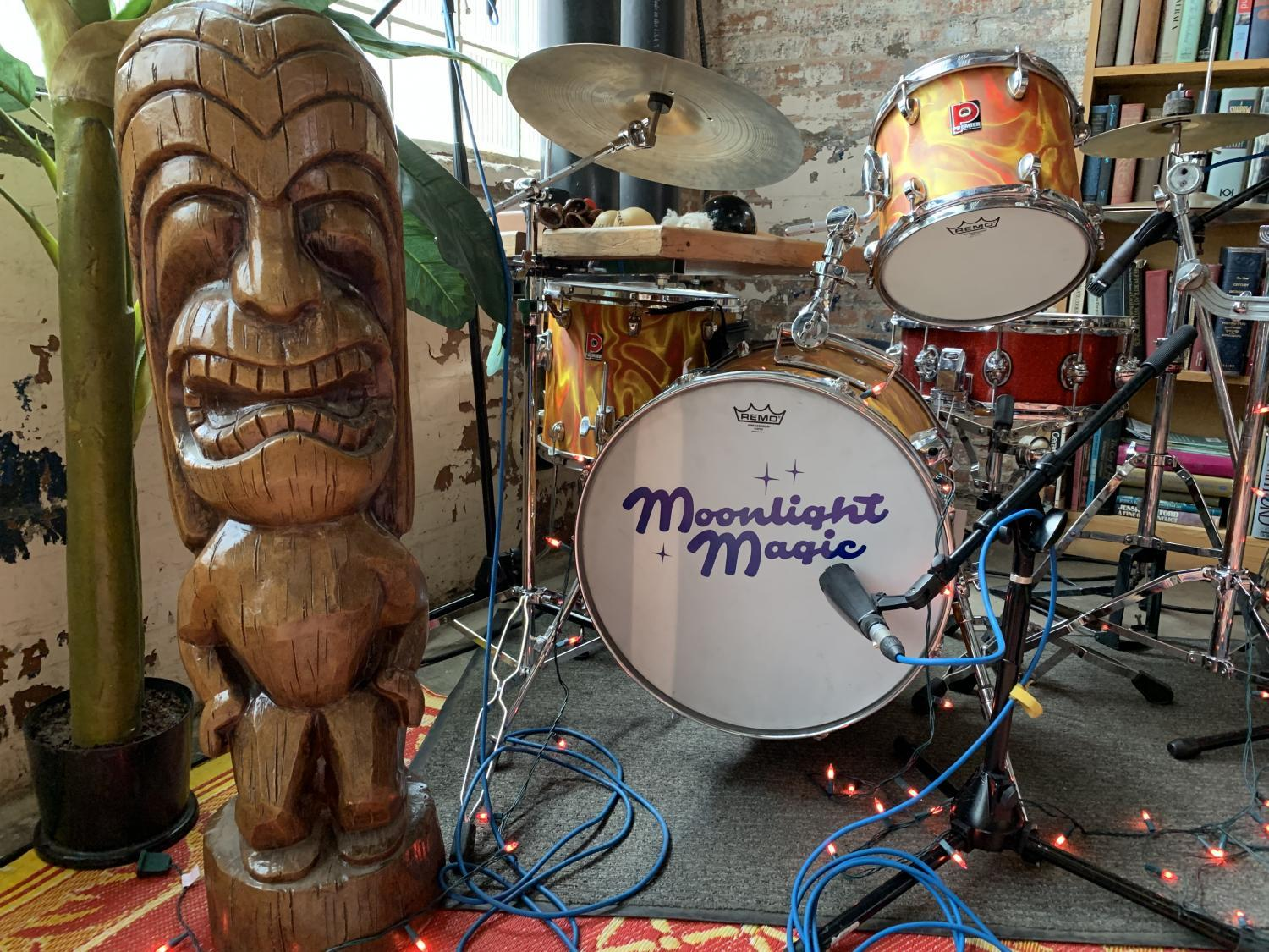 Moonlight Magic props and drum set