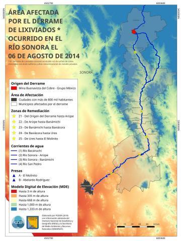Contamination map Rio Sonora