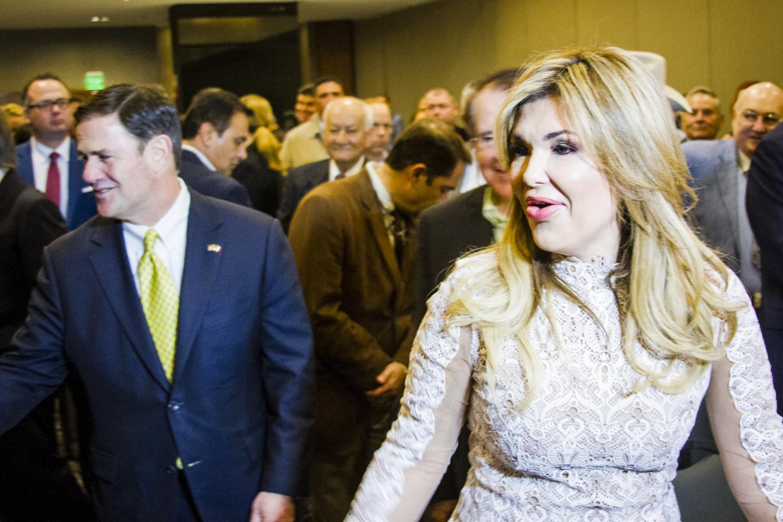 Arizona Governor Doug Ducey and Sonoran Governor Claudia Pavlovich