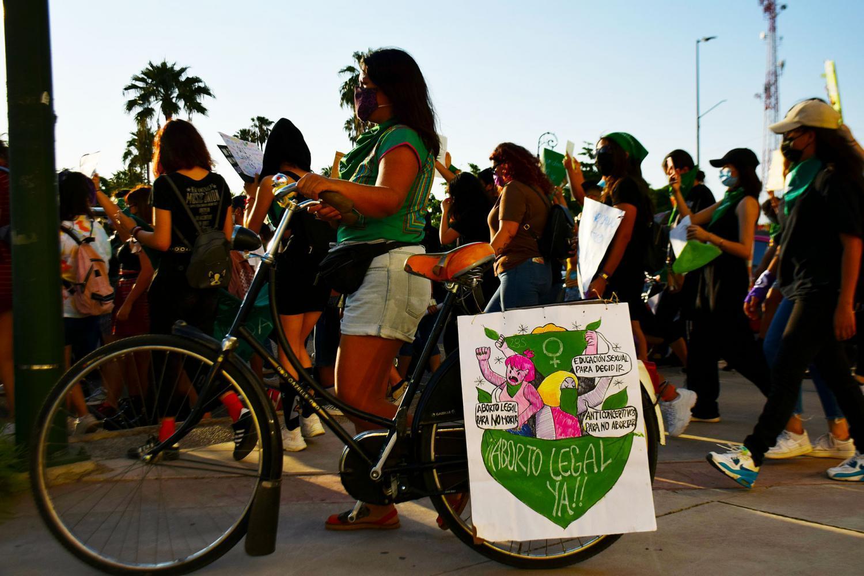 bike protester