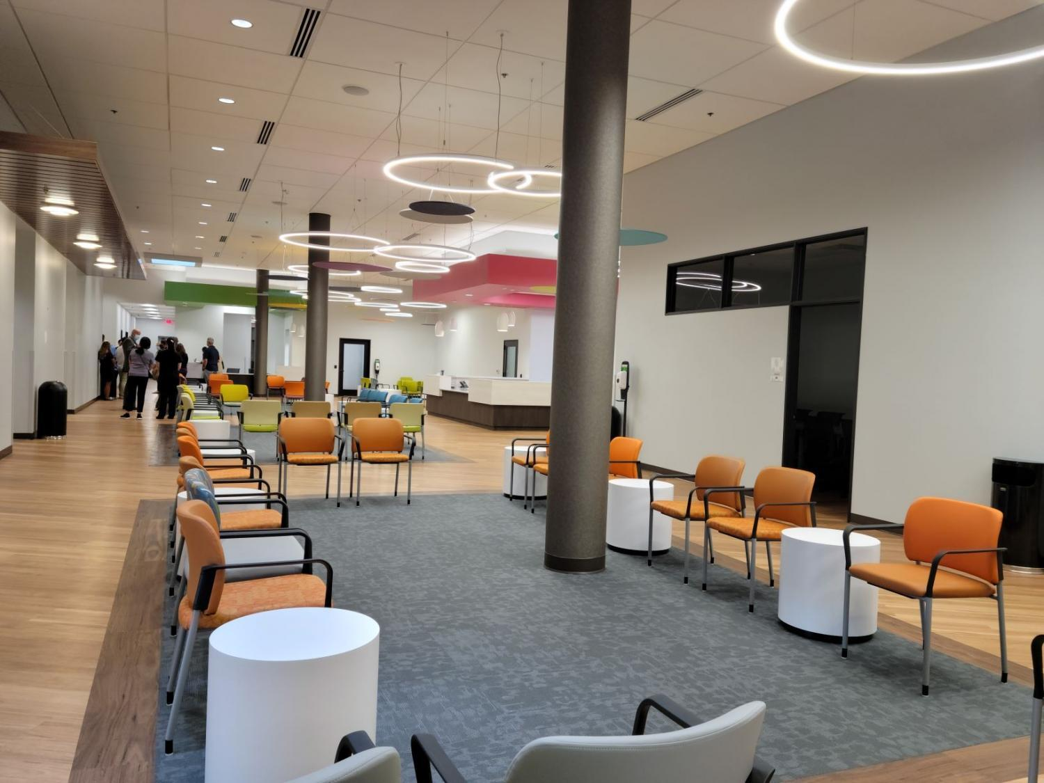 new waiting room area with chairs