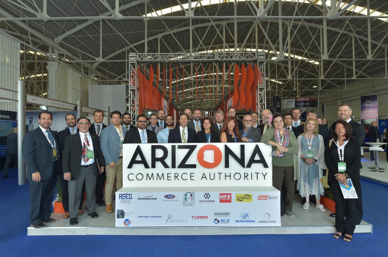 Arizona delegation and pavillion at FAMEX