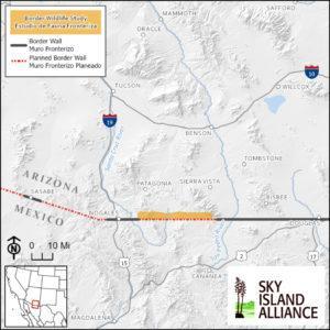 Border Wildlife study map
