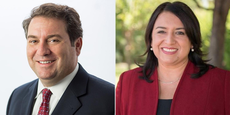 Arizona Attorney General Mark Brnovich and challenger January Contreras.