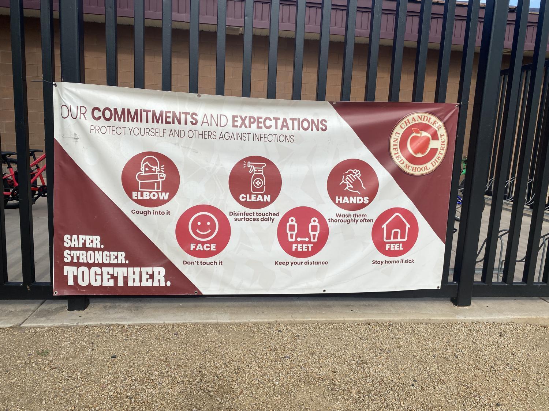 COVID school banner