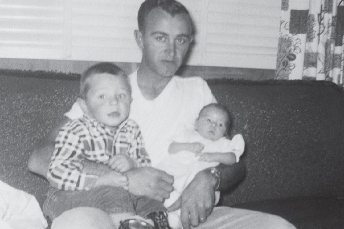 Charles Novak with his kids