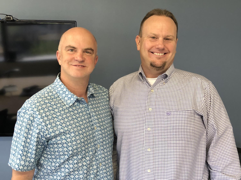 Chip Scutari (left) and Paul Bentz spoke to KJZZ