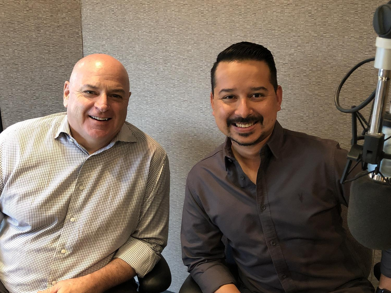 Chuck Coughlin and Roy Herrera in studio
