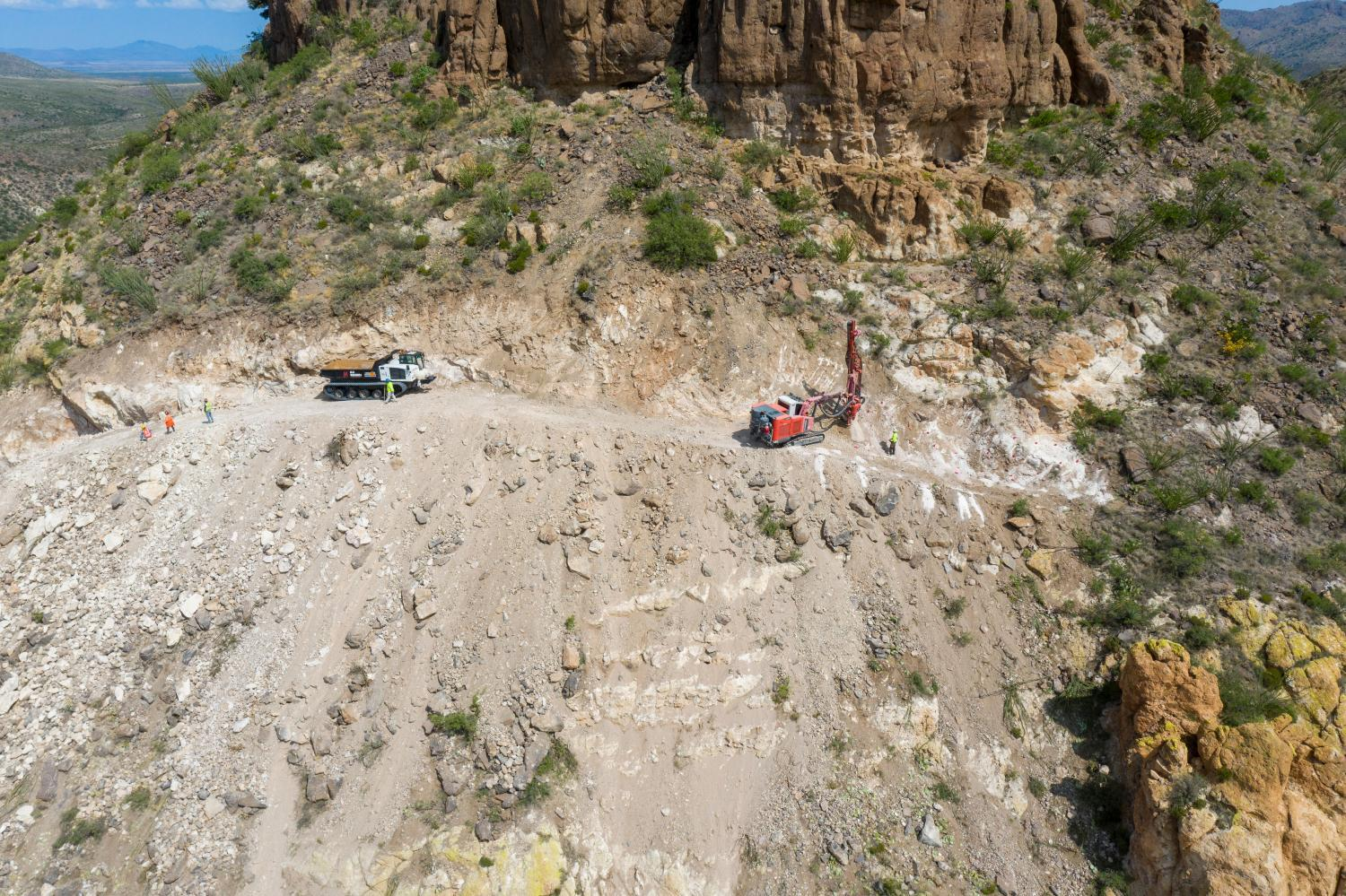 Bulldozers in Guadalupe Canyon