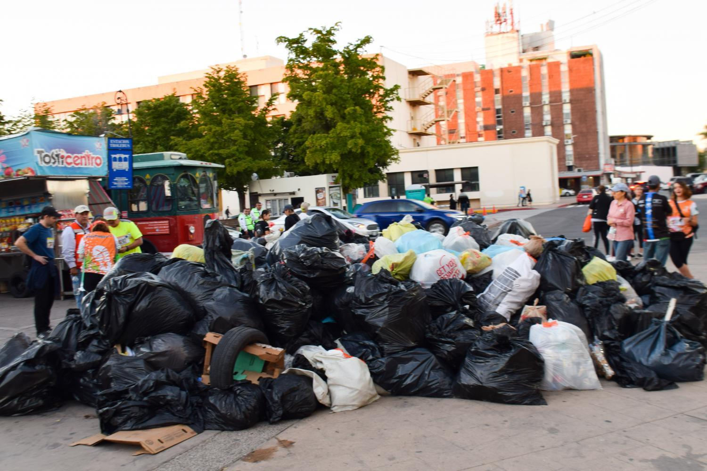 Plogging trash Hermosillo, Sonora