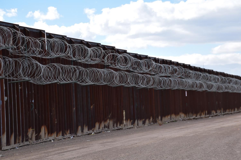 concertina wire Douglas border fence