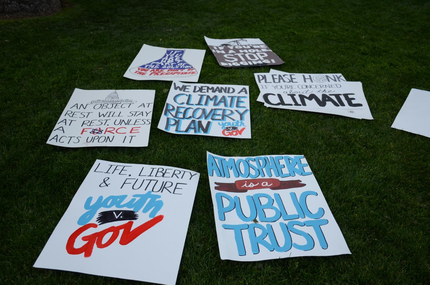 Signs from the March 2019 Arizona Youth Climate Strike