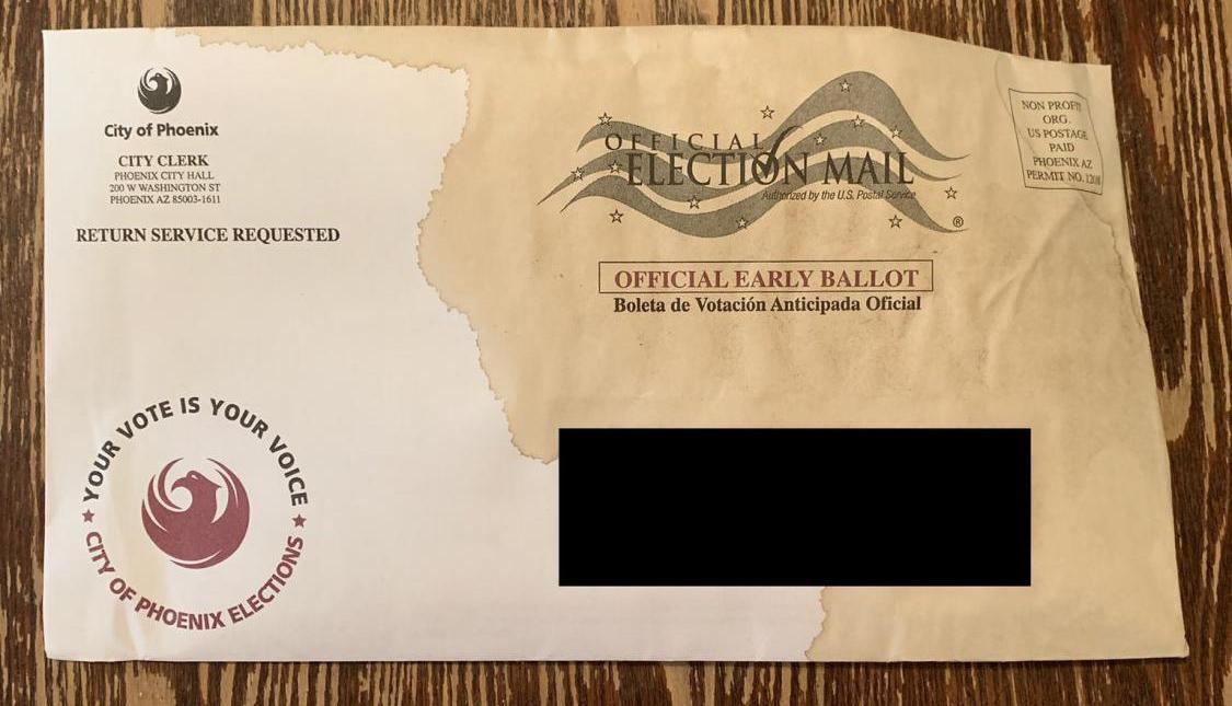 damaged Phoenix ballot