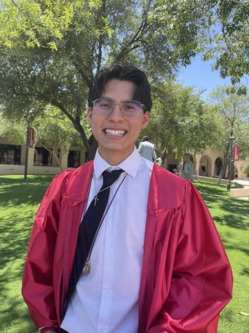 Darian Benitez Sanchez at his high school graduation