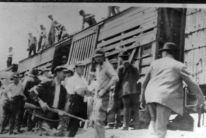 Deportaton Loading Box Cars