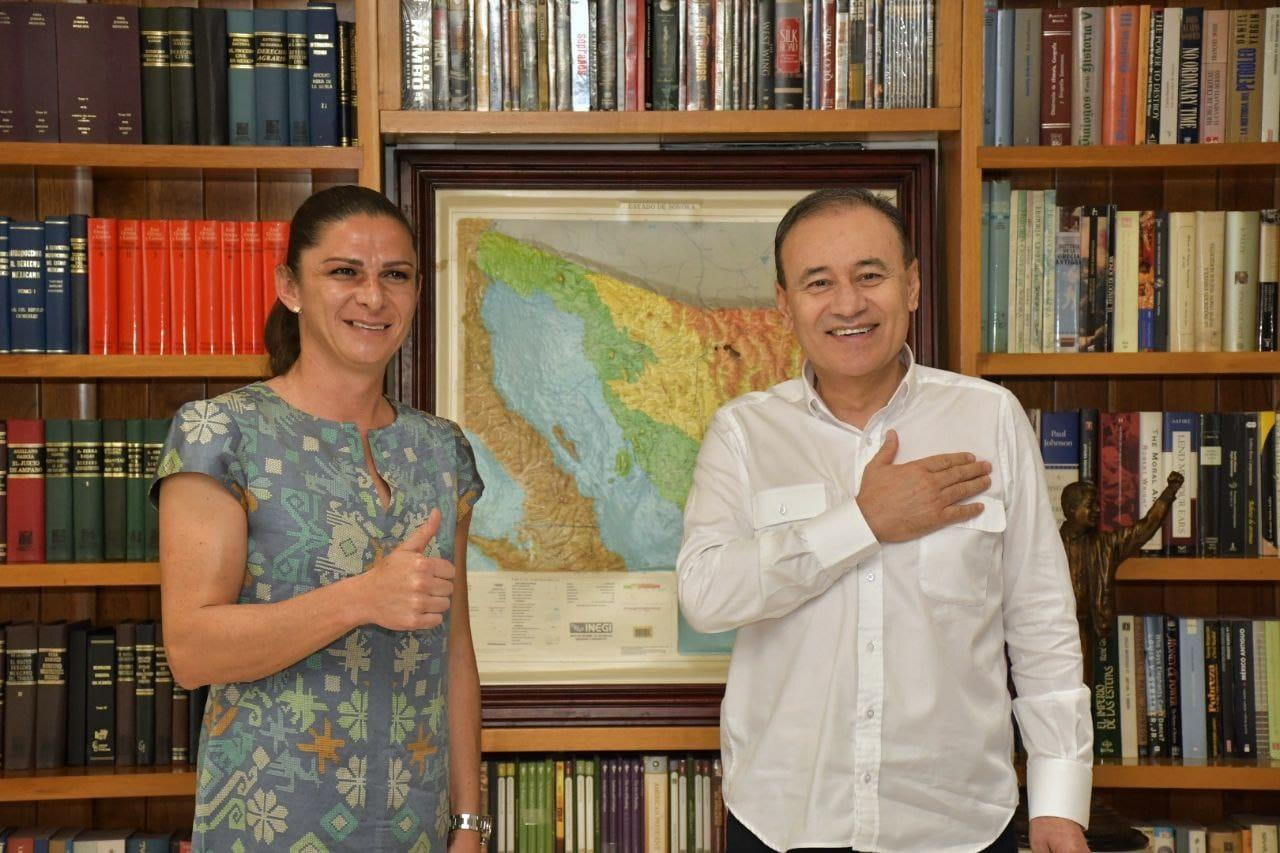 Alfonso Durazo and  Ana Gabriela Guevara Espinoza