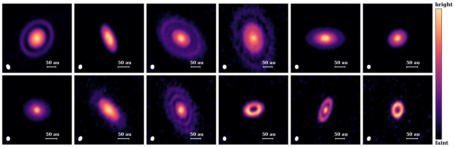 protoplanetary disks are more like doughnuts with holes, but even more often appear as a series of rings.