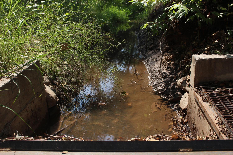 Earthen diversion ditch