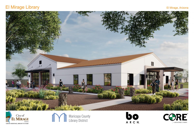 Rendering of upcoming El Mirage library