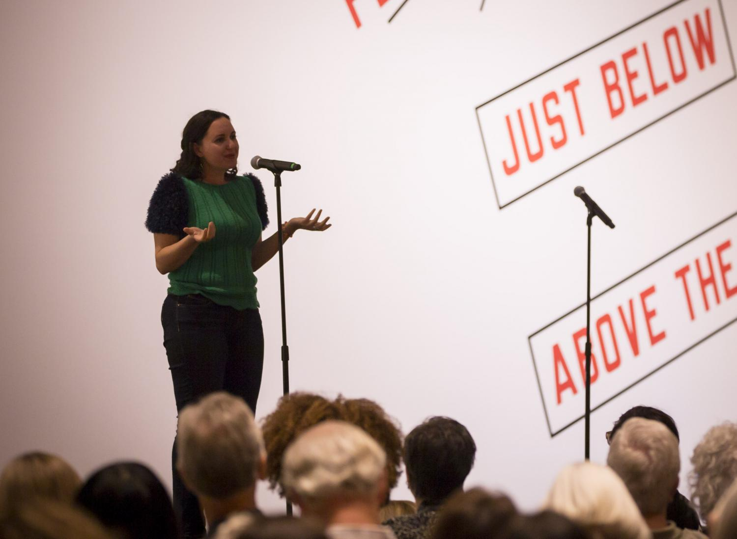 Elia Simon shares her story at the Phoenix Art Museum on March 14, 2018.