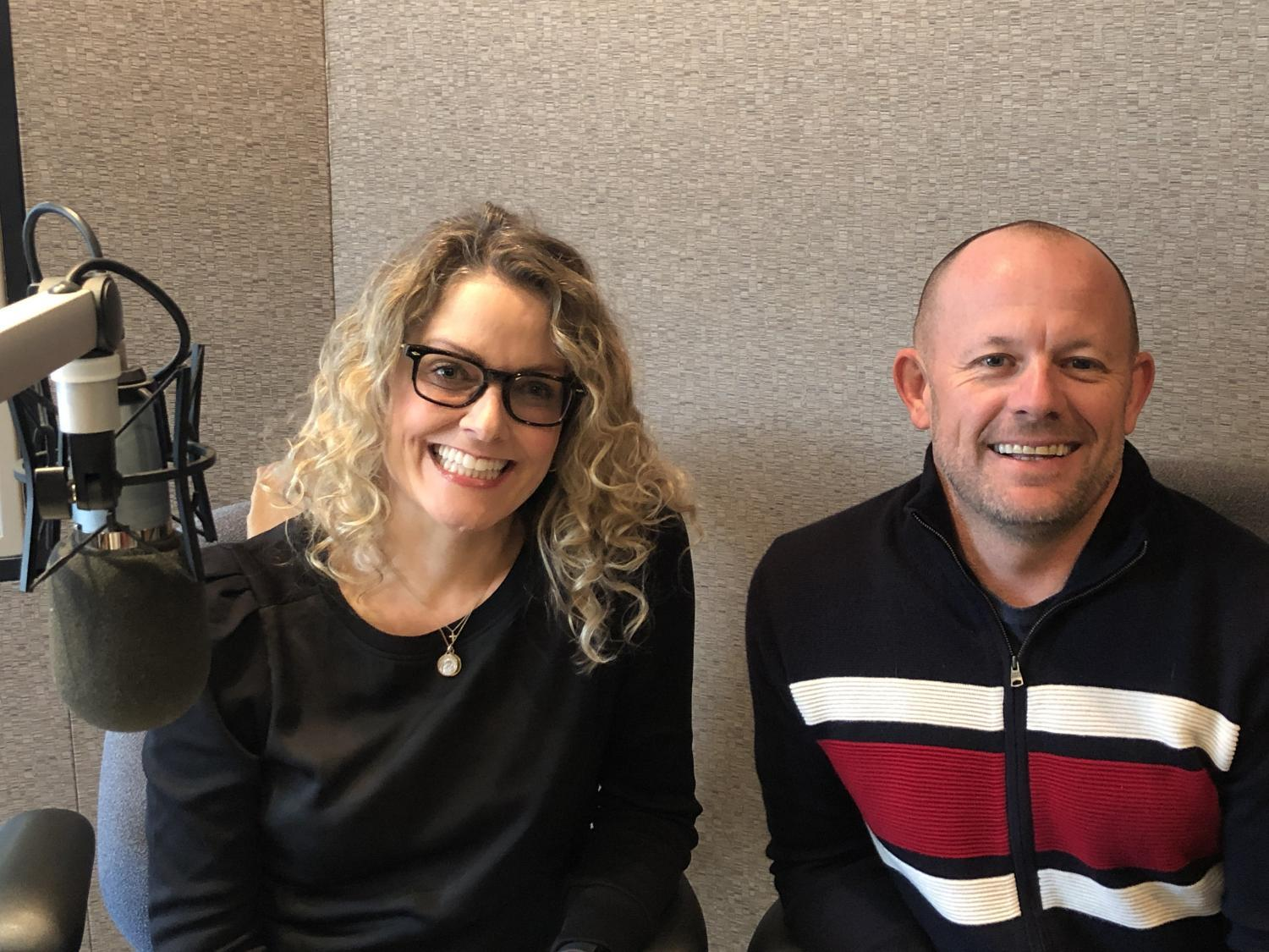 Emily Ryan and Chad Campbell in Studio