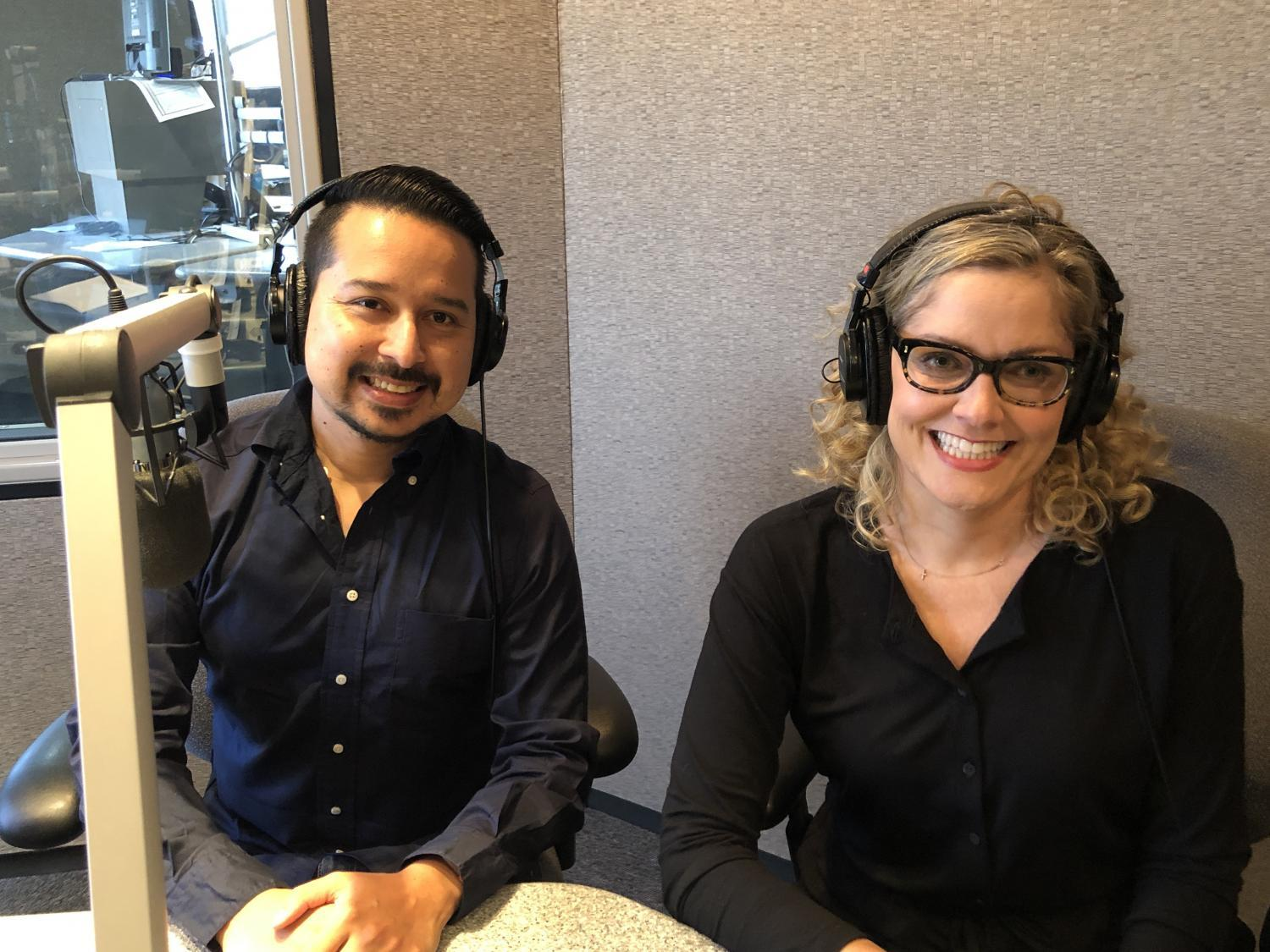 Roy Herrera (left) and Emily Ryan spoke to KJZZ
