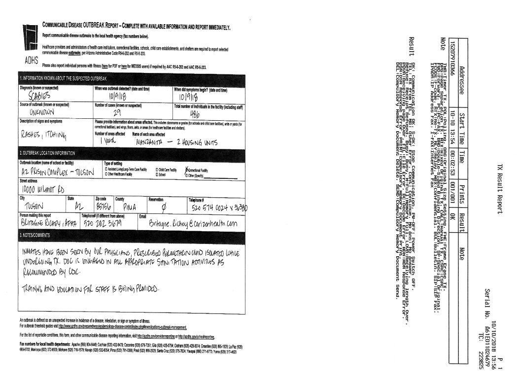 Scabies Confirmed At 2 Arizona Prisons | KJZZ