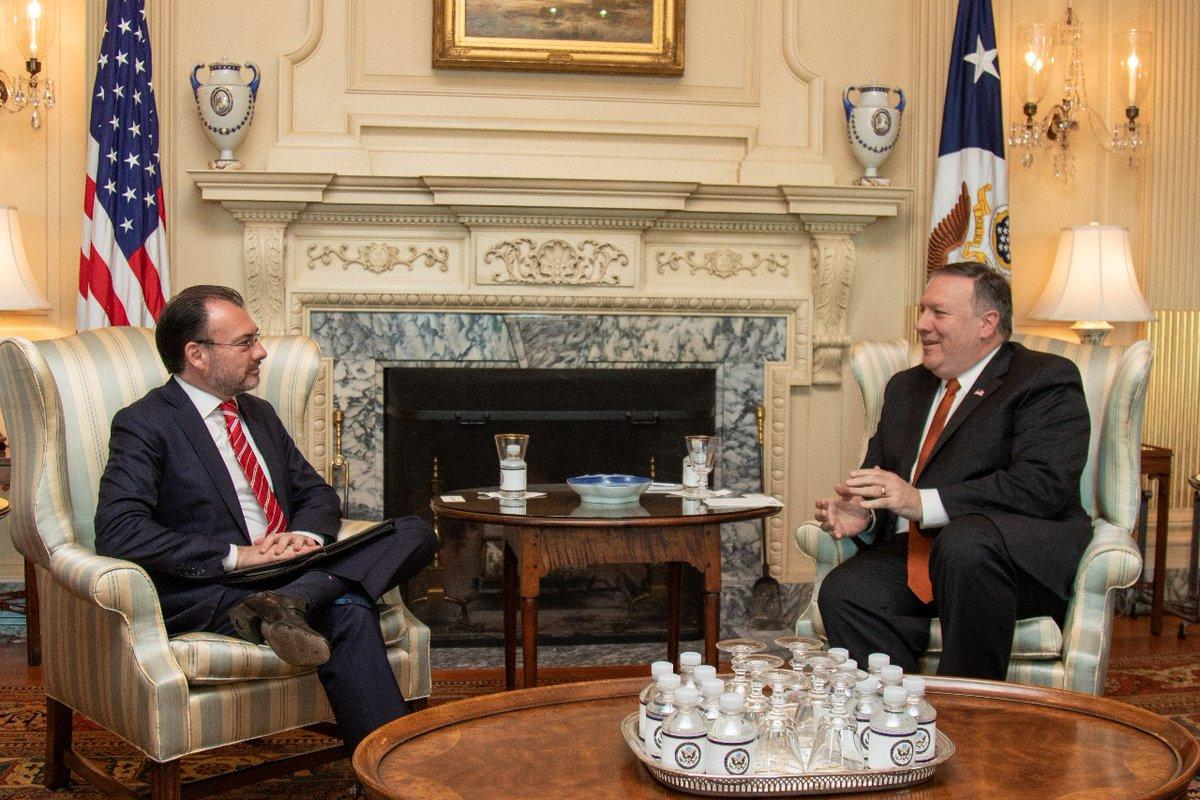 Mexican Foreign Secretary Luis Videgaray and Secretary of State Mike Pompeo