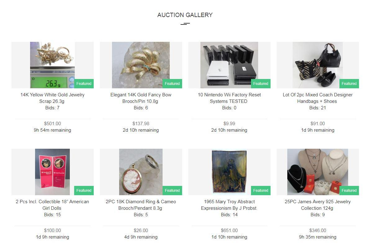 """ShopGoodwill.com features """"high scale"""" items like jewelry, electronics and collectors items."""