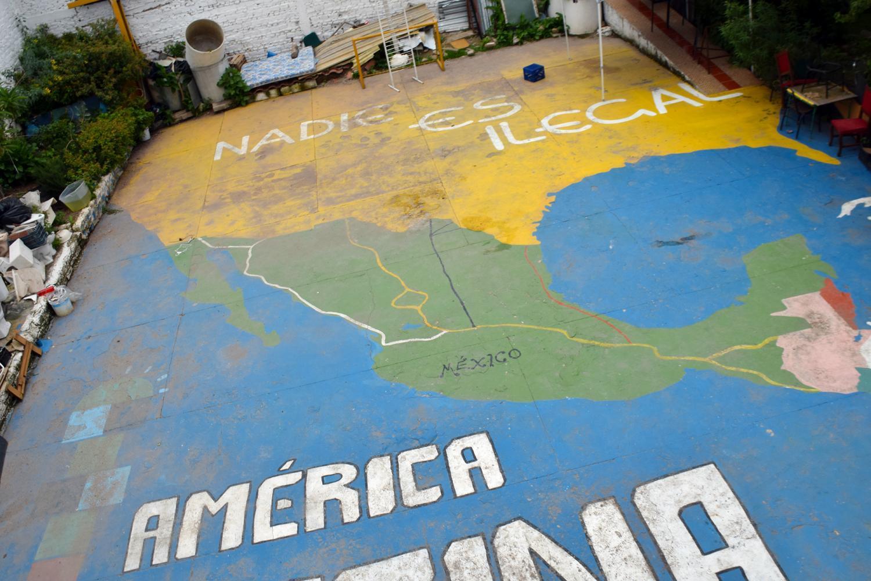 """El Refugio """"Nobody is Illegal"""" map"""