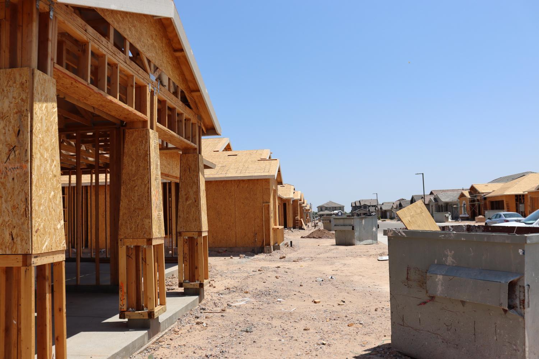 Houses Under Construction in Goodyear, Arizona