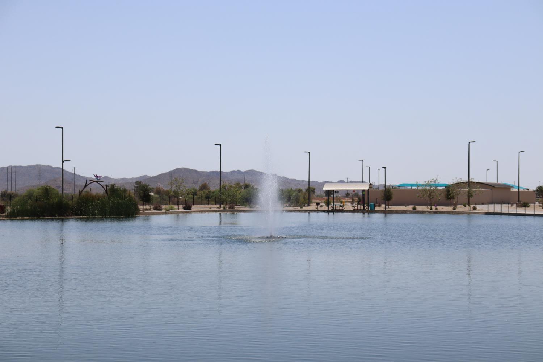 A park fountain