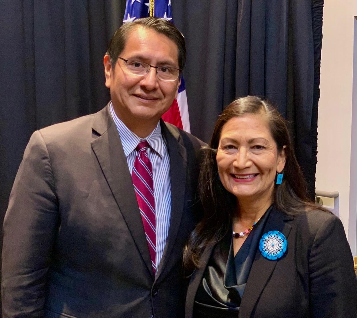 Jonathan Nez and Deb Haaland
