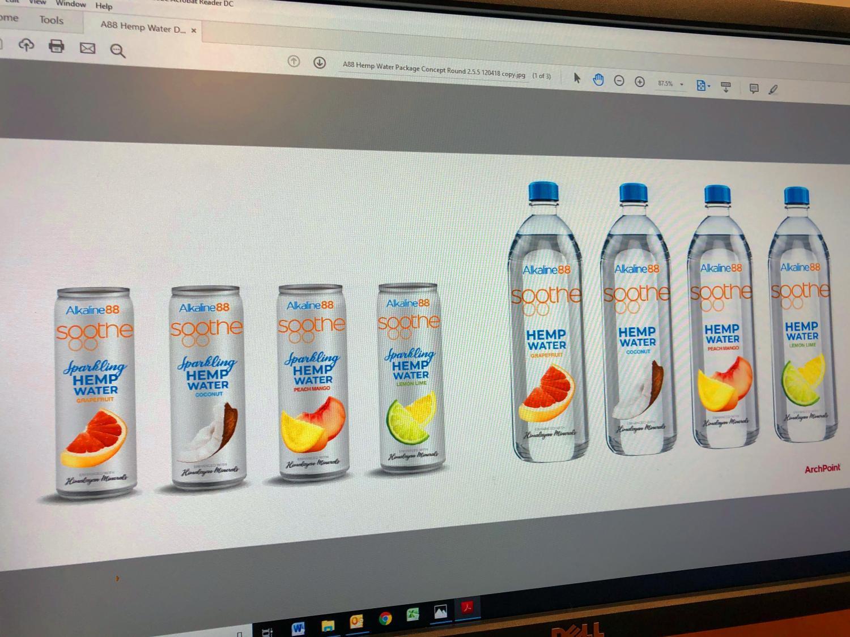 Consumer hemp-infused water mockups