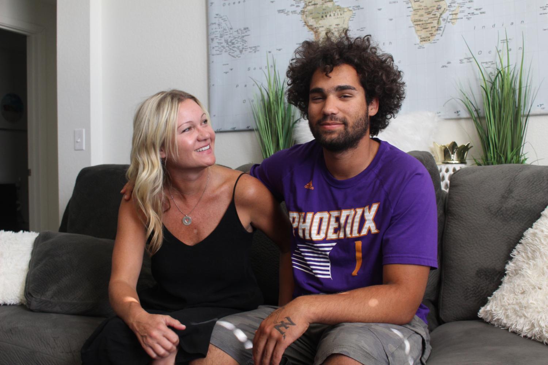 Hudson Meek and his mom, Christy Meek.