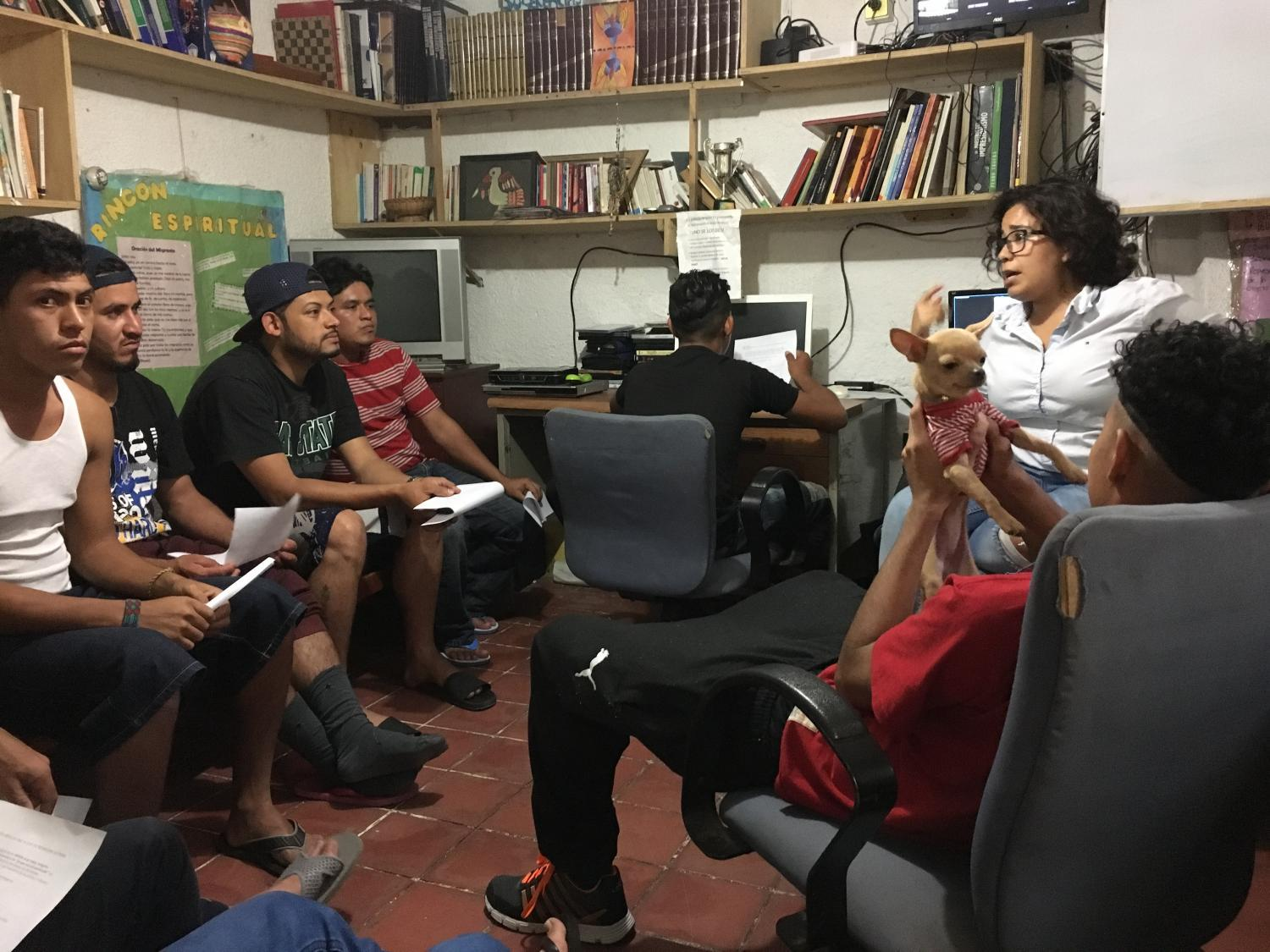 Delia Arias explains the basics of petitioning for asylum in the U.S.