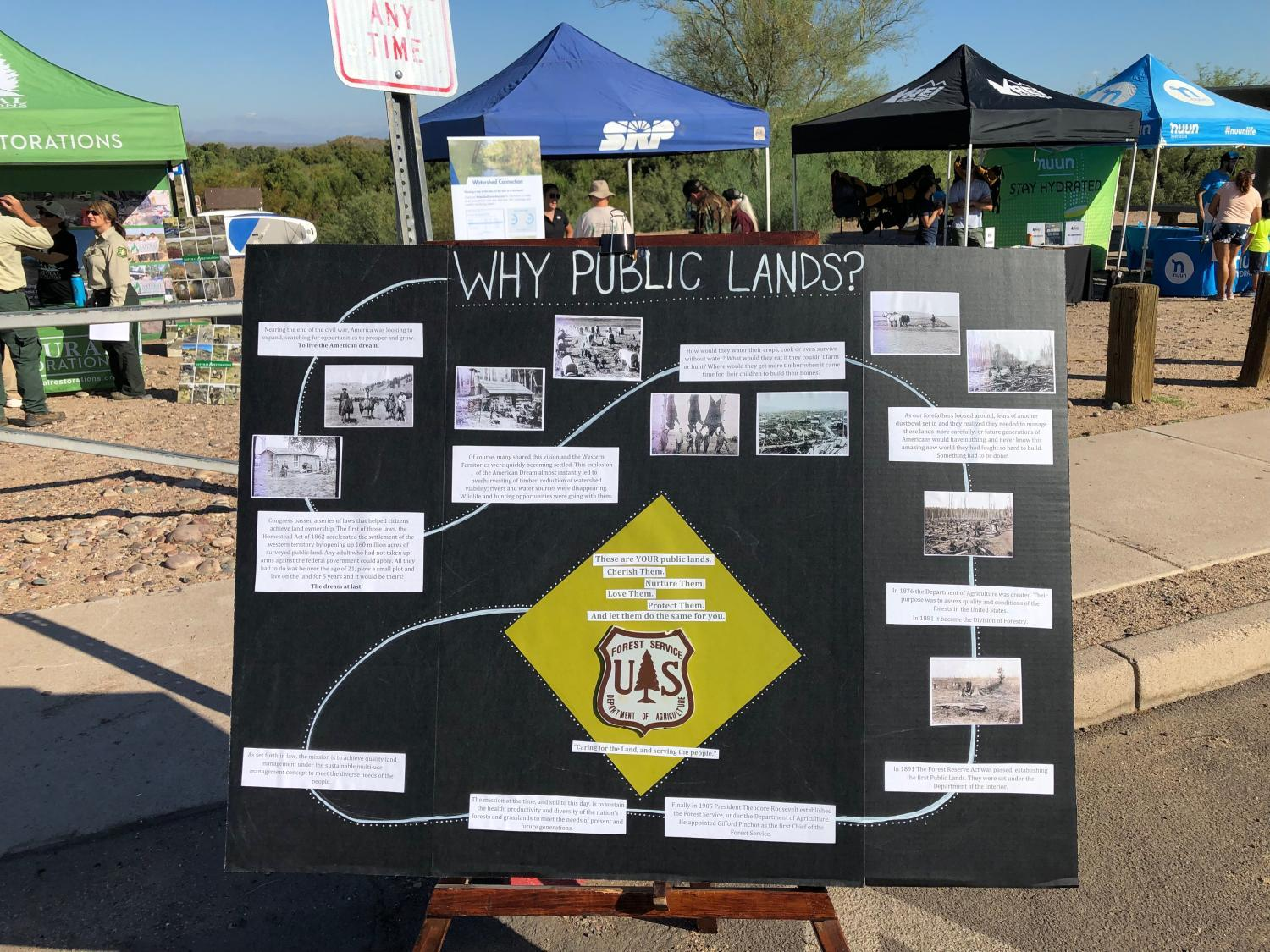 A poster at a National Public Lands Day observance along the Lower Salt River.