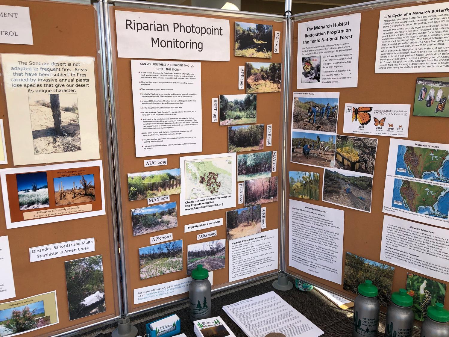 The display hosted by Friends of the Tonto National Forest.