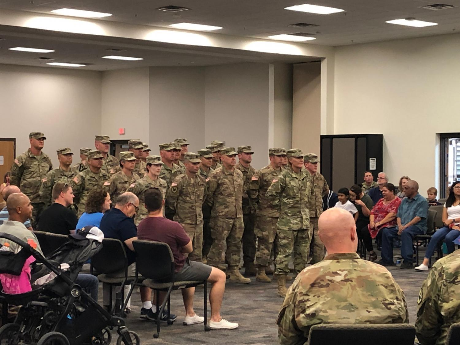 Two dozen soldiers from the Arizona National Guard returned home from a yearlong mobilization.