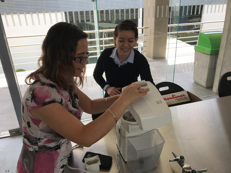 Sandra Pascoe Ortiz, an engineering professor at the University of the Valley of Atemajac, and Alejandra Reyes Diaz, a communications coordinator